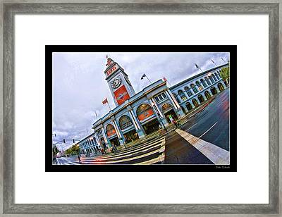 San Francisco Ferry Building Giants Decorations. Framed Print