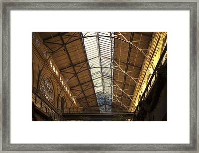 San Francisco Ferry Building Interior Framed Print by SFPhotoStore