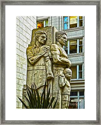San Francisco - Financial District Statue - 02 Framed Print by Gregory Dyer