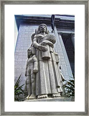 San Francisco - Financial District Statue - 03 Framed Print by Gregory Dyer