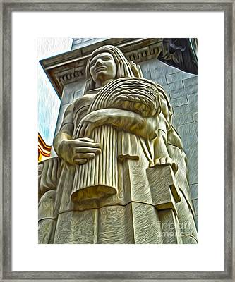 San Francisco - Financial District Statue - 04 Framed Print by Gregory Dyer