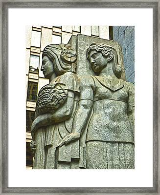 San Francisco - Financial District Statue - 05 Framed Print by Gregory Dyer