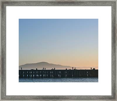 San Francisco Fishing Dock Framed Print