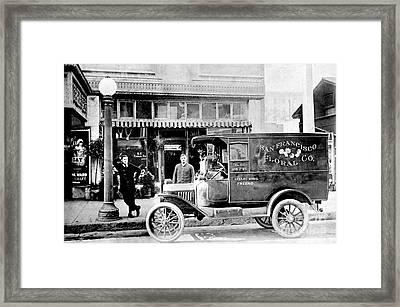 San Francisco Floral Truck Framed Print