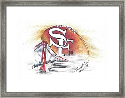 San Francisco Football In Fog Framed Print