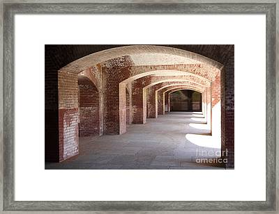 San Francisco Fort Point 5d21545 Framed Print by Wingsdomain Art and Photography