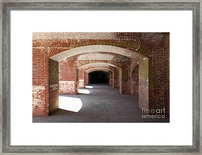 San Francisco Fort Point 5d21546 Framed Print by Wingsdomain Art and Photography