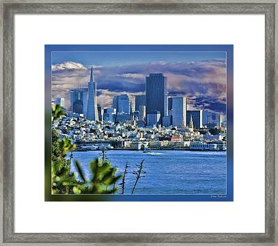 San Francisco From Alcatraz Framed Print