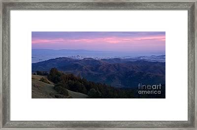 San Francisco From Mount Tam Framed Print by Matt Tilghman