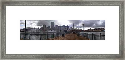 San Francisco From Pier Framed Print
