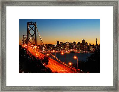 Framed Print featuring the photograph The City By The Bay by James Kirkikis
