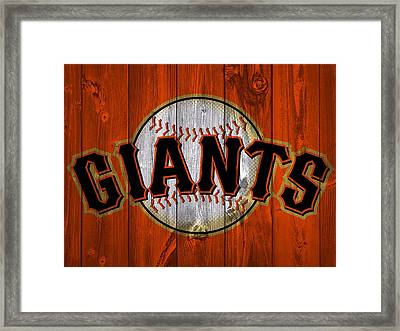 San Francisco Giants Barn Door Framed Print
