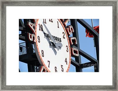 San Francisco Giants Baseball Scoreboard And Clock 5d28233 Framed Print
