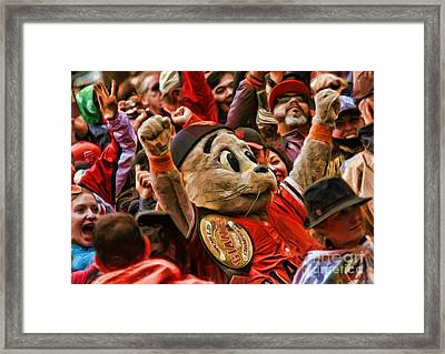 San Francisco Giants Mascot Lou Seal Framed Print