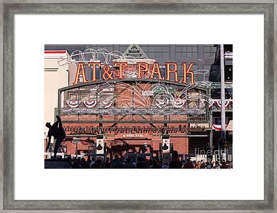 San Francisco Giants World Series Baseball At Att Park 5d29720 Framed Print