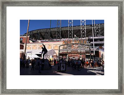San Francisco Giants World Series Baseball At Att Park Dsc1899 Framed Print by Wingsdomain Art and Photography
