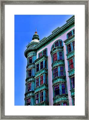 San Francisco Glow By Diana Sainz Framed Print by Diana Sainz