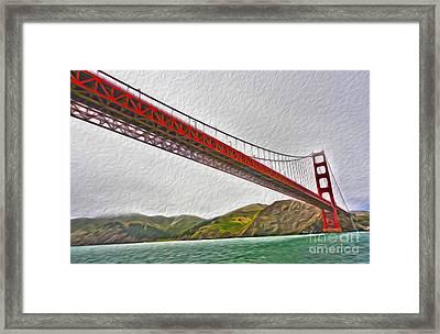 San Francisco - Golden Gate Bridge - 03 Framed Print by Gregory Dyer
