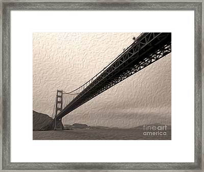 San Francisco - Golden Gate Bridge - 05 Framed Print by Gregory Dyer
