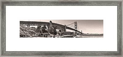 San Francisco - Golden Gate Bridge - 06 Framed Print by Gregory Dyer