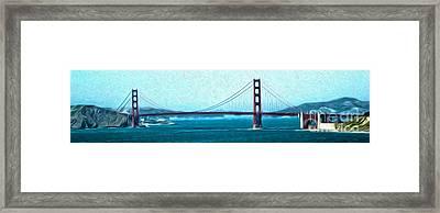 San Francisco - Golden Gate Bridge - 07 Framed Print by Gregory Dyer