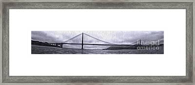 San Francisco - Golden Gate Bridge - 08 Framed Print by Gregory Dyer