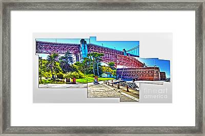 San Francisco - Golden Gate Bridge - 09 Framed Print by Gregory Dyer