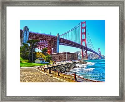 San Francisco - Golden Gate Bridge - 11 Framed Print by Gregory Dyer