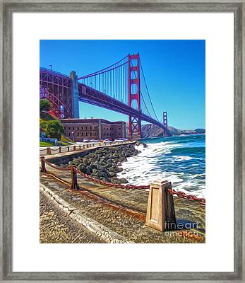 San Francisco - Golden Gate Bridge - 12 Framed Print by Gregory Dyer