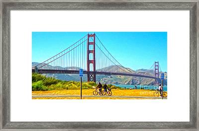 San Francisco - Golden Gate Bridge - 13 Framed Print by Gregory Dyer