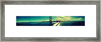 San Francisco Golden Gate Bridge Panoramic View Framed Print by Patricia Awapara