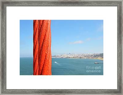 San Francisco Golden Gate Bridge Framed Print by Paul Van Baardwijk