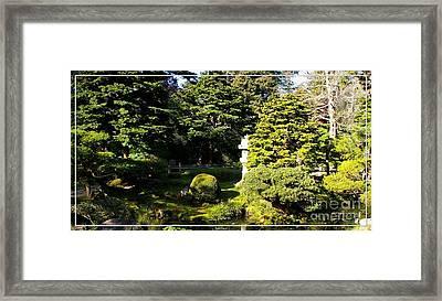 San Francisco Golden Gate Park Japanese Tea Garden 1 Framed Print by Robert Santuci