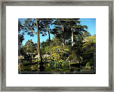 San Francisco Golden Gate Park Japanese Tea Garden 11 Framed Print by Robert Santuci