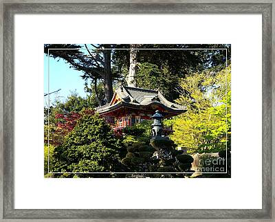 San Francisco Golden Gate Park Japanese Tea Garden 5 Framed Print by Robert Santuci
