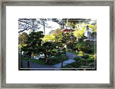 San Francisco Golden Gate Park Japanese Tea Garden 6 Framed Print by Robert Santuci