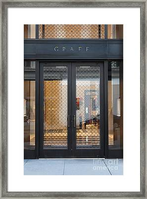 San Francisco Graff Store Doors - 5d20569 Framed Print by Wingsdomain Art and Photography