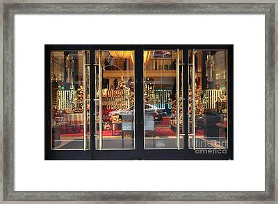 San Francisco Gumps Store Doors - 5d20585 Framed Print by Wingsdomain Art and Photography