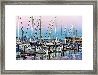 San Francisco Harbor At Pier 39 Framed Print by Artist and Photographer Laura Wrede