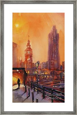 San Francisco Harbor Painting Framed Print