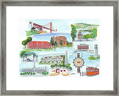 San Francisco Highlights Montage Framed Print by Mike Robles