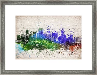 San Francisco In Color Framed Print by Aged Pixel