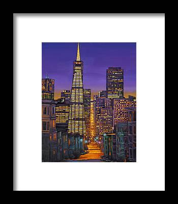 San Francisco Skyline Framed Prints