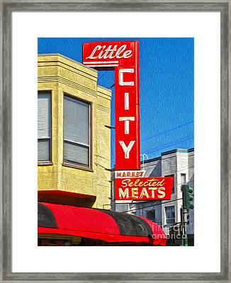 San Francisco - Little City Meats Framed Print by Gregory Dyer