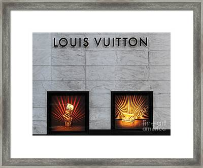 San Francisco Louis Vuitton Storefront - 5d20546-2 Framed Print by Wingsdomain Art and Photography