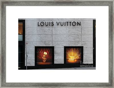 San Francisco Louis Vuitton Storefront - 5d20546 Framed Print