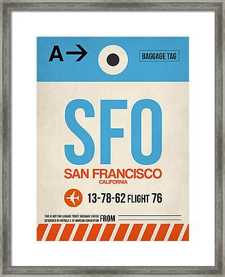 San Francisco Luggage Tag Poster 1 Framed Print
