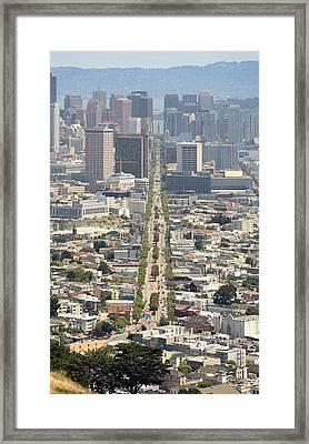 San Francisco - Market Street - Castro To Embarcadero Framed Print by Daniel Furon