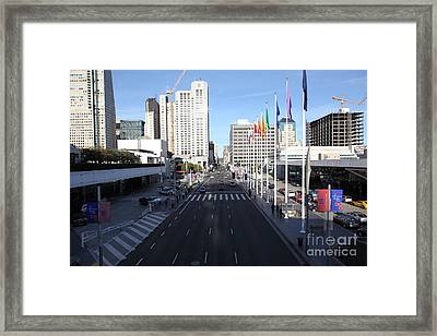San Francisco Moscone Center And Skyline - 5d20513 Framed Print by Wingsdomain Art and Photography