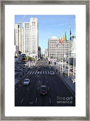 San Francisco Moscone Center And Skyline - 5d20515 Framed Print by Wingsdomain Art and Photography